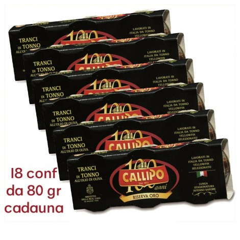 TUNA TRANCI CALLIPO WITH OLIVE OIL IN BOX 80gr GOLD RESERVE